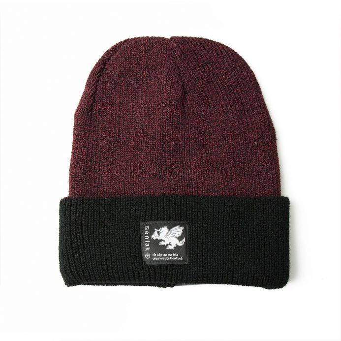 Senlak Anglo-Saxon Beanie - Antique Burgundy and Black